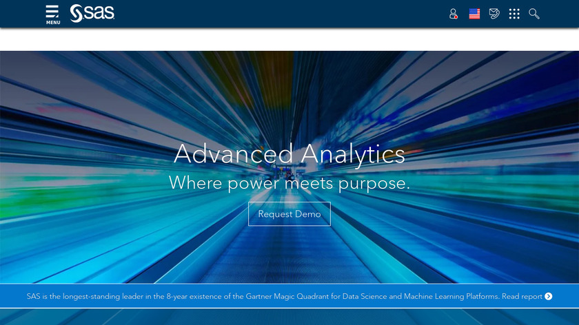 SAS Advanced Analytics Landing Page