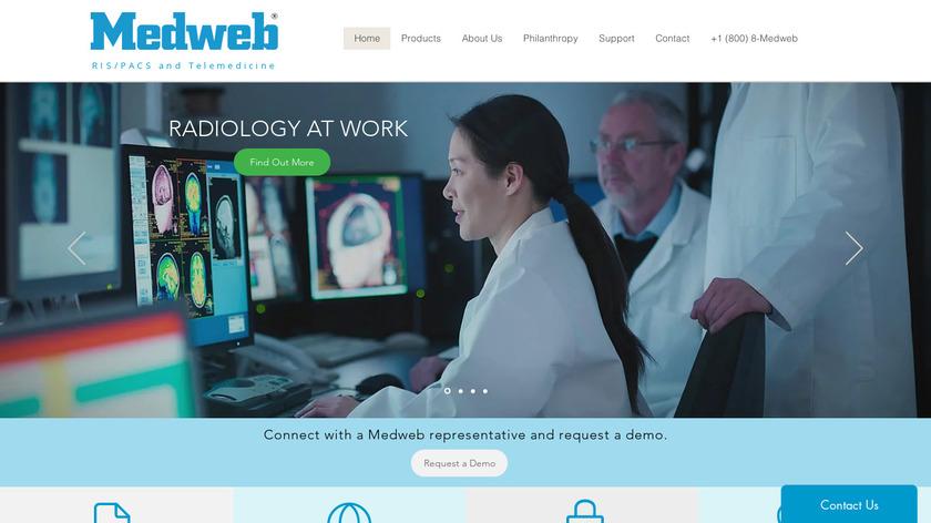 virtualPACS Gateway Landing Page
