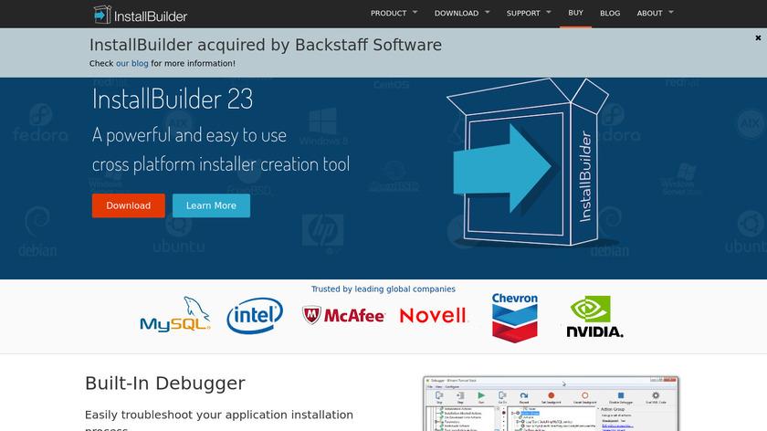 InstallBuilder Landing Page