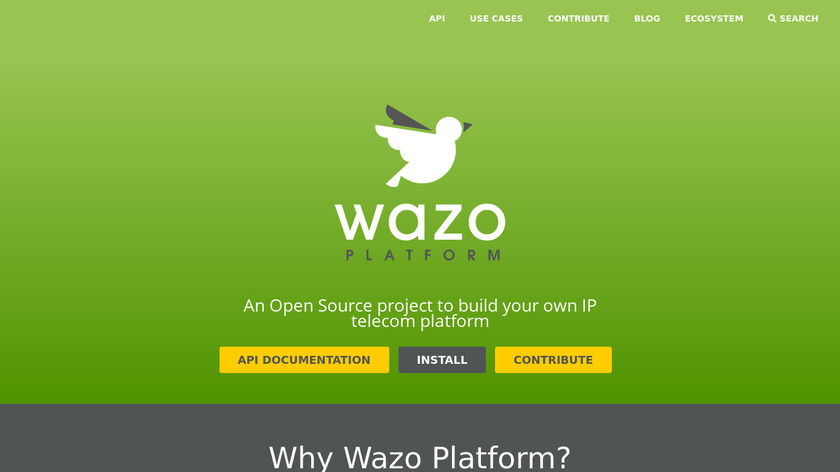 Wazo Landing Page