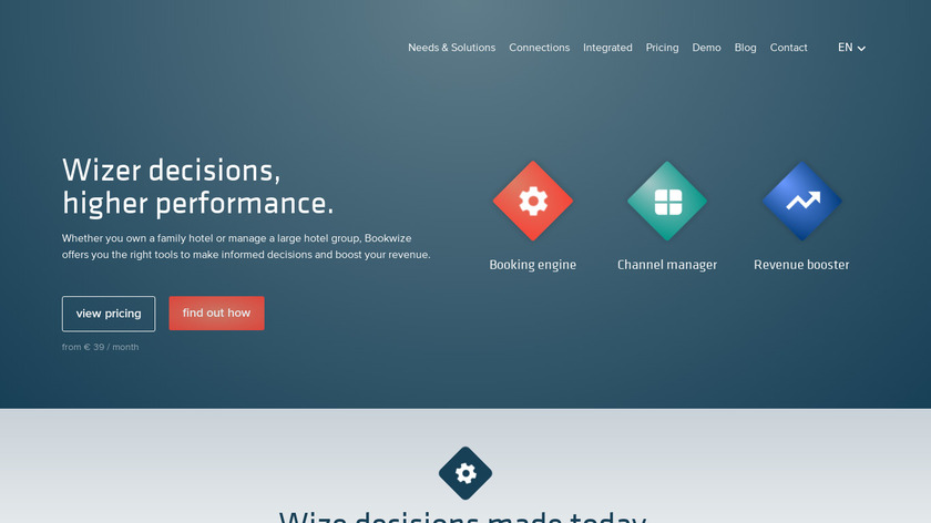 Bookwize Booking System Landing Page