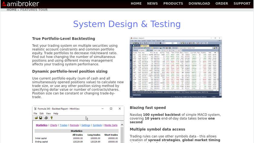 AmiBroker Landing Page