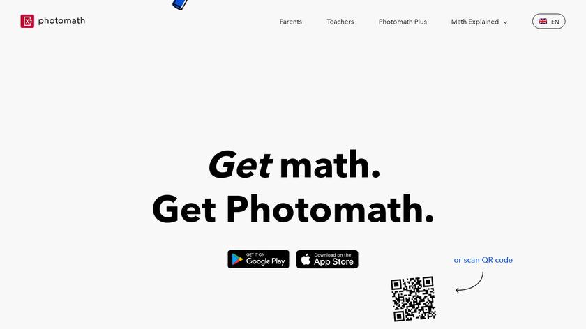 Photomath Landing Page