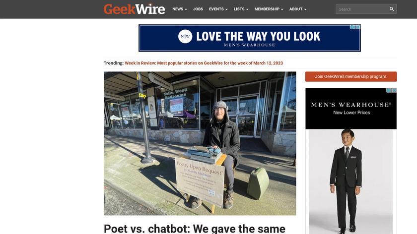 GeekWire Landing Page