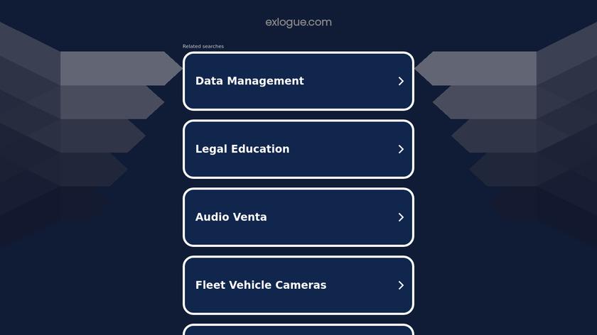 eXlogue Landing Page