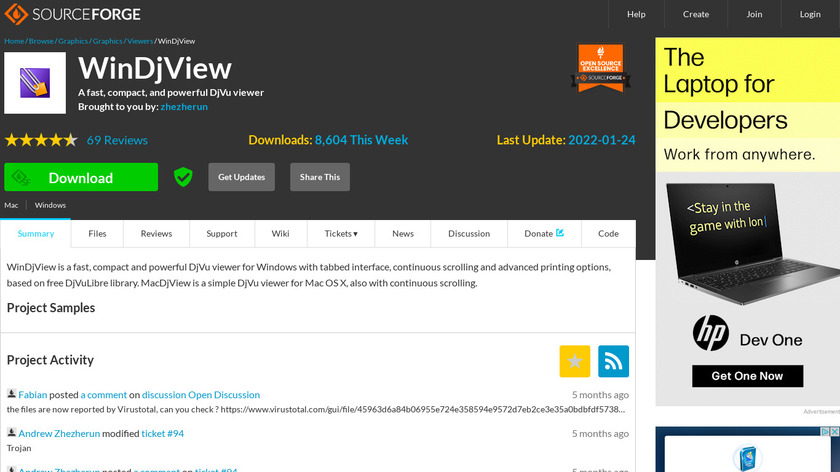 WinDjView Landing Page