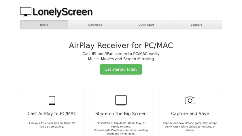 LonelyScreen Landing Page