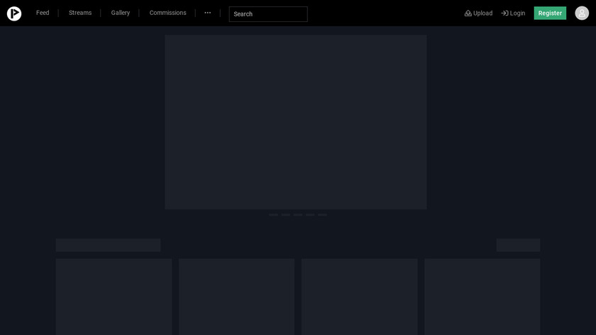 Picarto.TV Landing Page