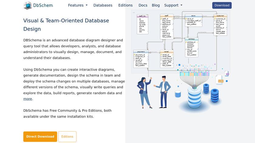 DbSchema Landing Page