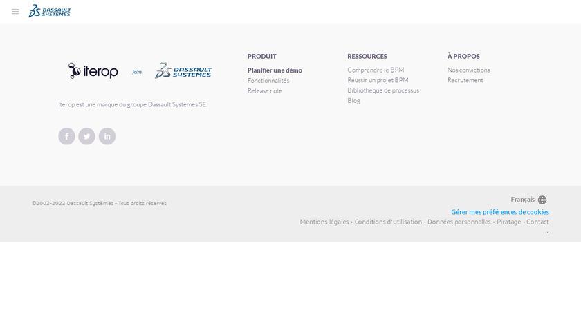 Iterop Landing Page