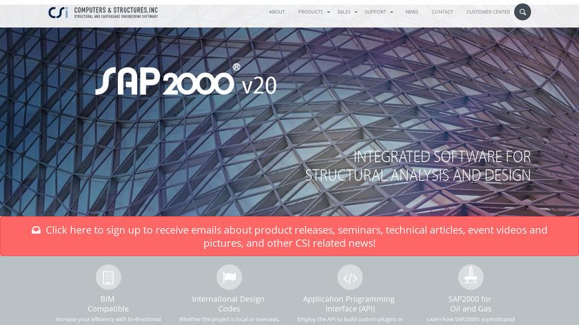 SAP2000 Landing Page