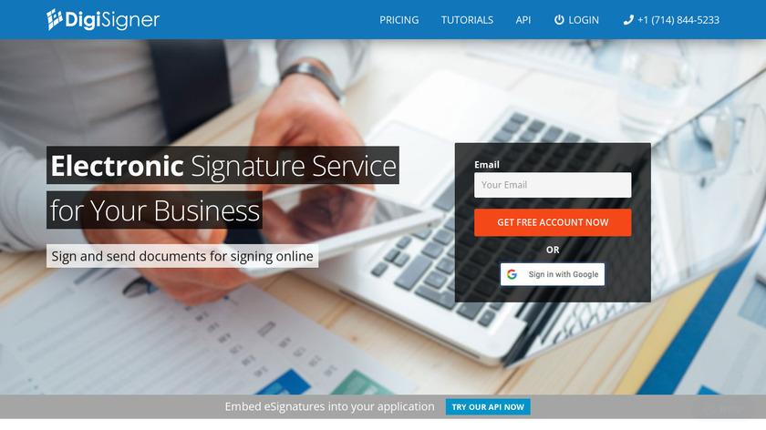 DigiSigner Landing Page