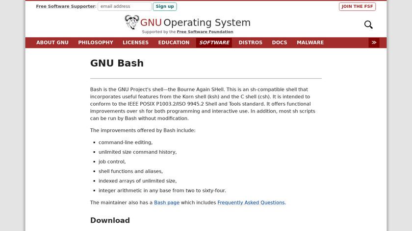 GNU Bourne Again SHell Landing Page