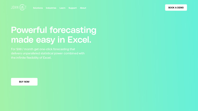 ForecastX Wizard Landing Page
