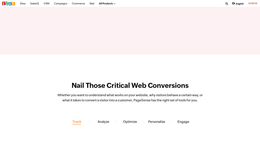 Zoho PageSense Landing Page