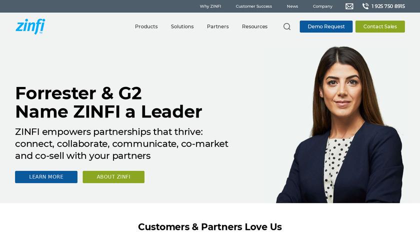ZINFI Landing Page