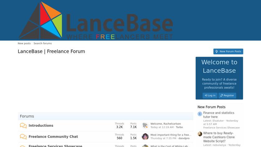 LanceBase Landing Page