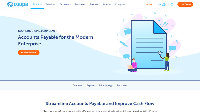 Coupa Invoicing Landing Page