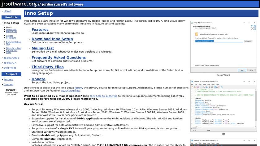 Inno Setup Landing Page