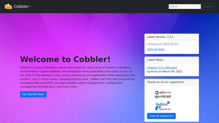 Cobbler Landing Page