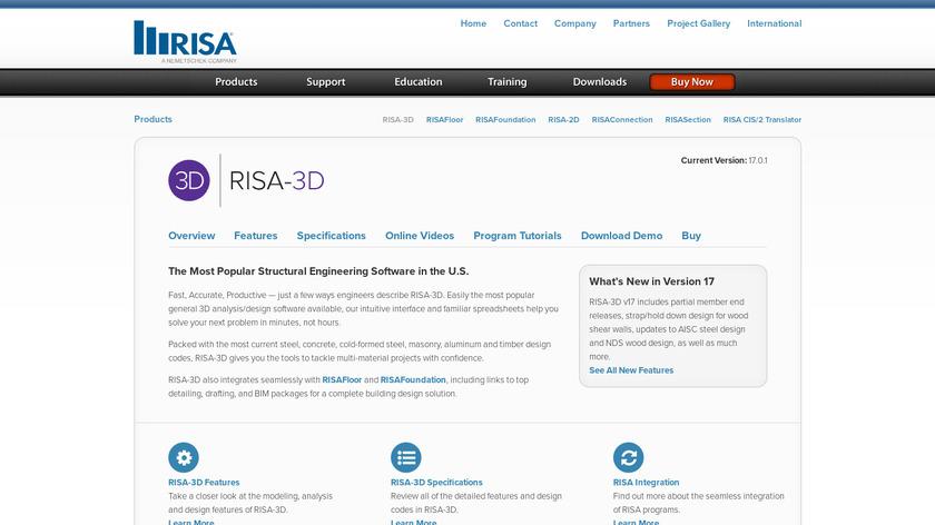 RISA-3D Landing Page