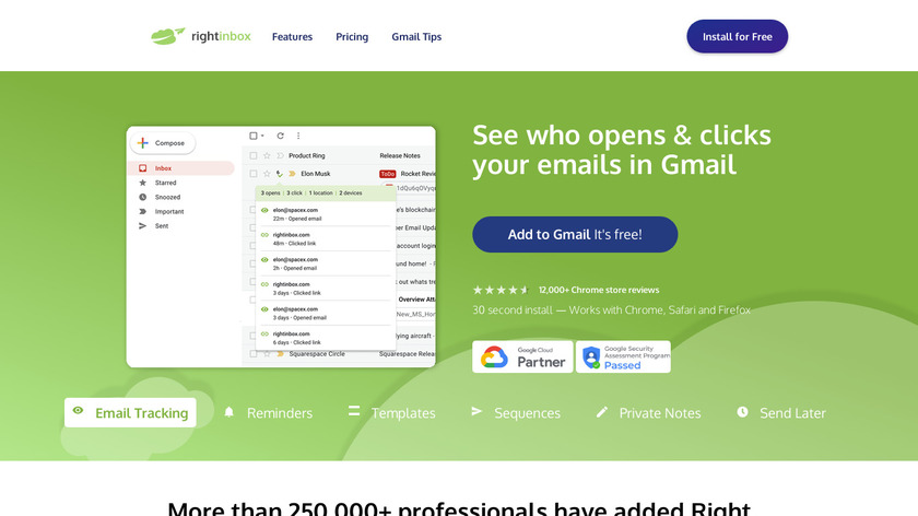 Right Inbox Landing Page