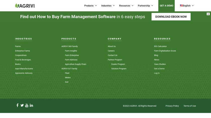 Agrivi Landing Page