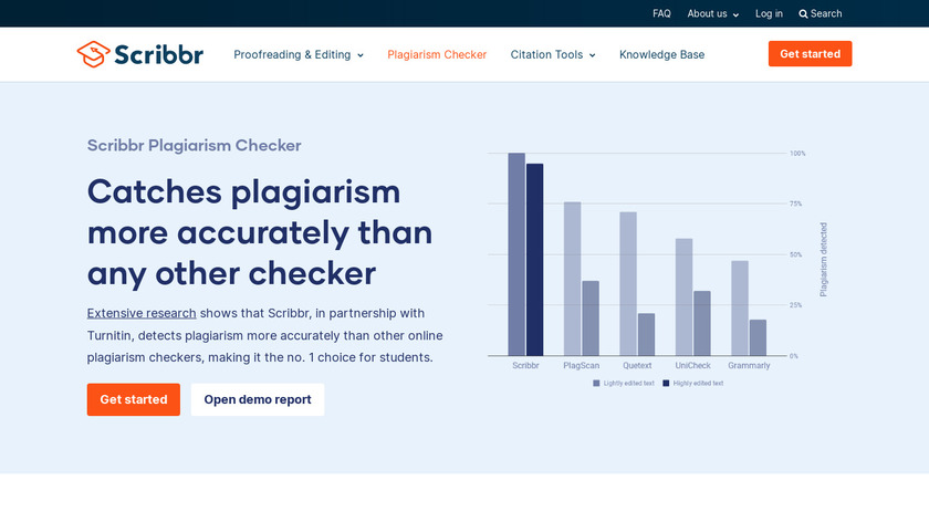 SCRiBBR Plagiarism Check Landing Page