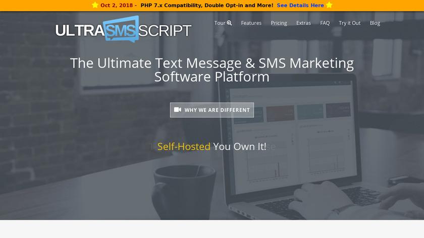 UltraSMSScript Landing Page