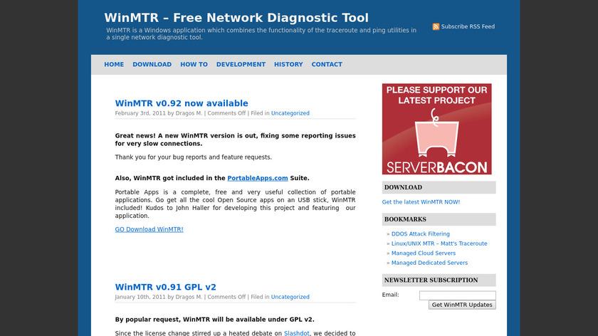 WinMTR Landing Page