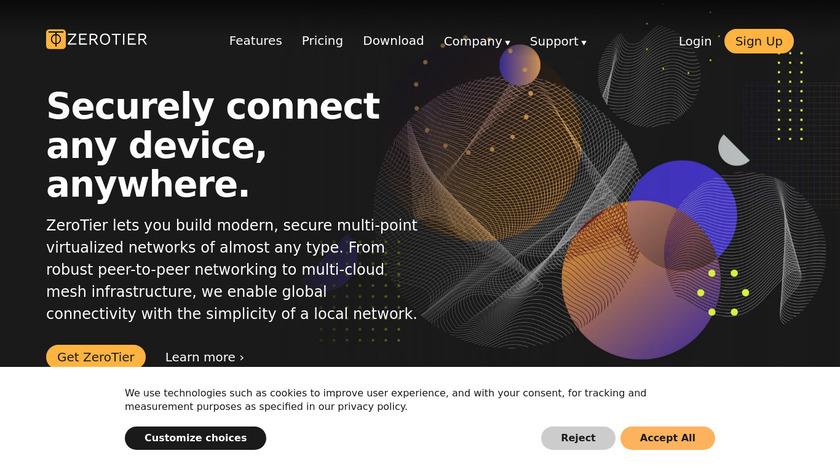 ZeroTier Landing Page