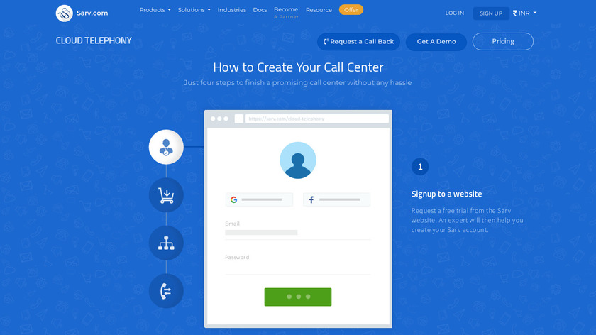 Cloud Telephony Landing Page