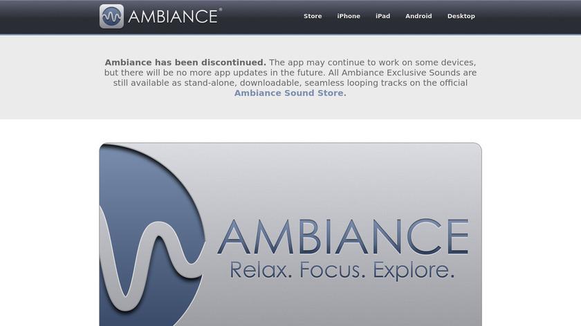 Ambiance Landing Page