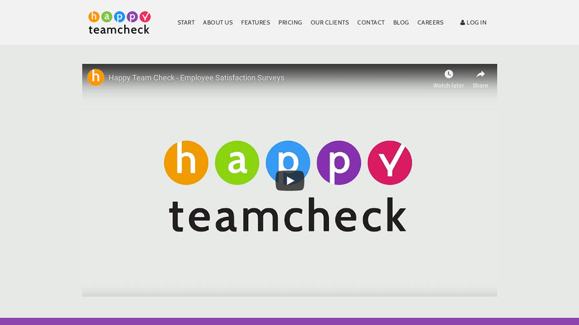 Happy Team Check Landing Page