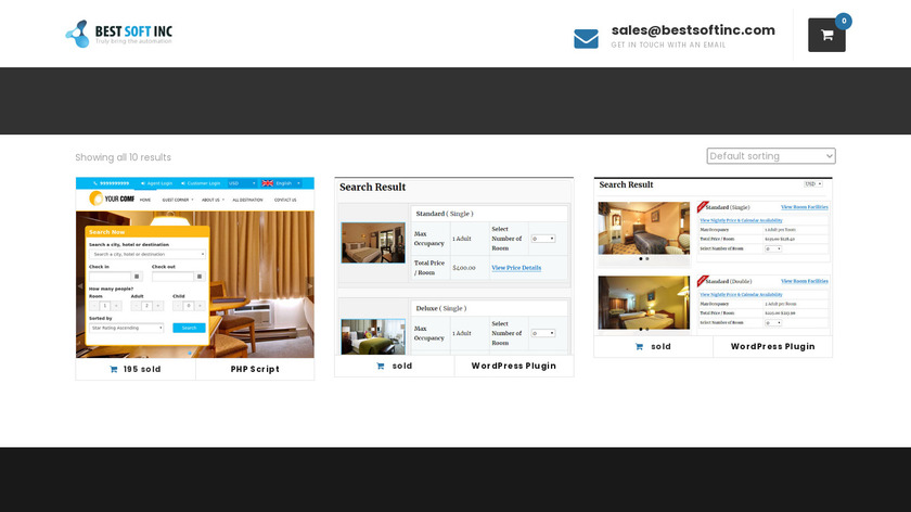 BSI Hotel Booking System Landing Page