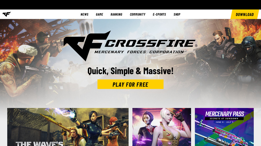 CrossFire Landing Page