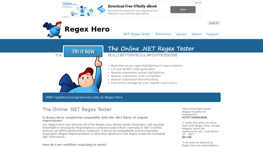 Regex Hero Landing Page