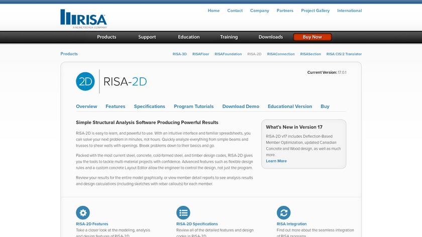 RISA-2D Landing Page