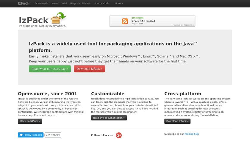 IzPack Landing Page