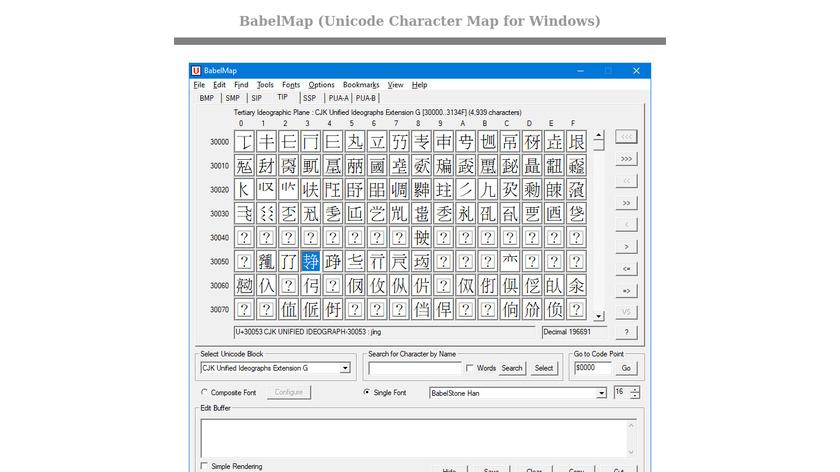 BabelMap Landing Page