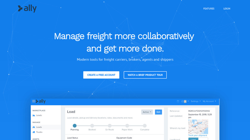 Ally TMS Landing Page