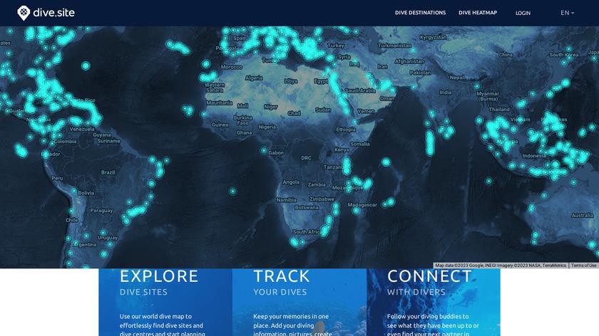 dive.site Landing Page