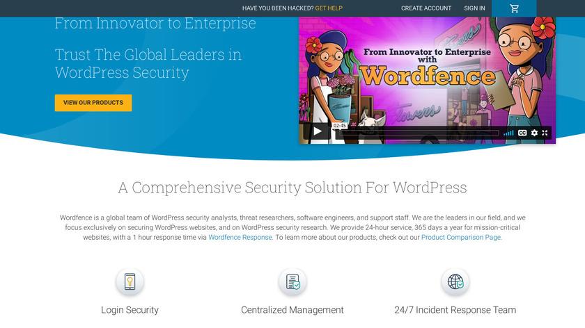 Wordfence Landing Page