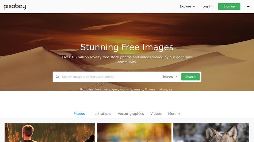 Pixabay Landing Page