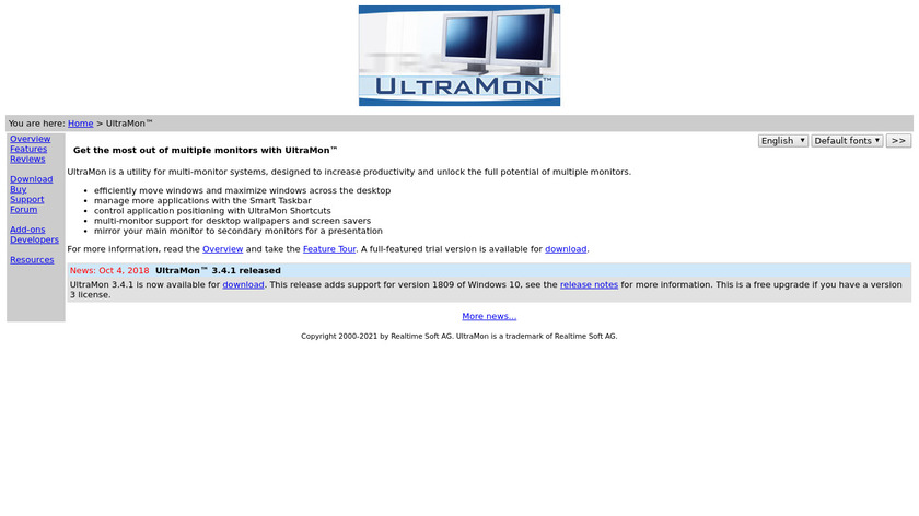 Ultramon Landing Page