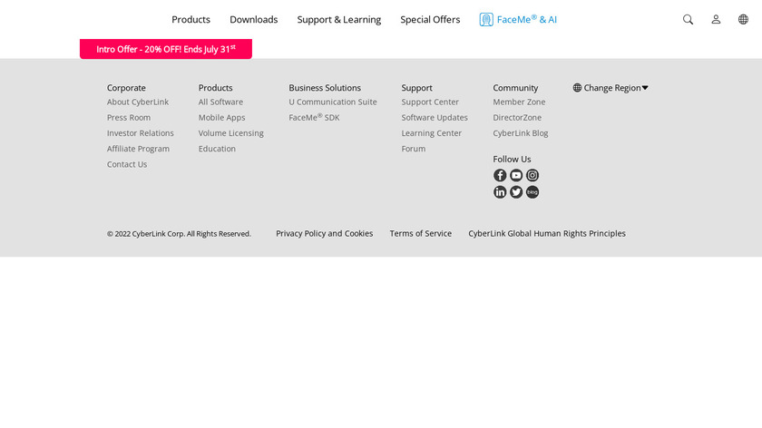 YouCam Landing Page