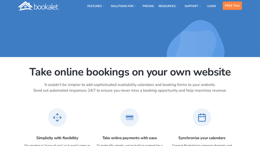 Bookalet Landing Page