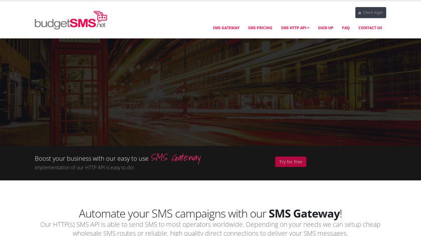 BudgetSMS.net Landing Page