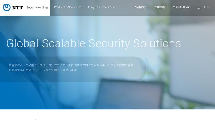 NTT Security Landing Page