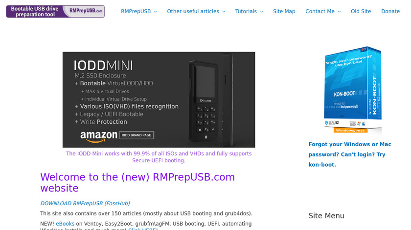 RMPrepUSB Landing Page
